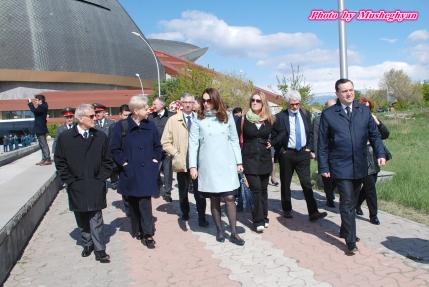 Dr Eleni Theocharous MEP, Valerie Boyer MP (France) Professor Bernard Coulie, H.E. Avert Adonts, Armenian Ambassador to the EU