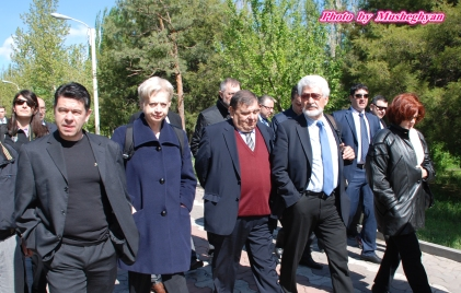 Ioannis Charalampidis, Dr Eleni Theocharous MEP, Kaspar Karampetian (EAFJD)