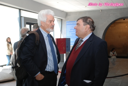 Kyriacos Triantaphyllides (MEP) and Kaspar Karampetian (EAFJD)