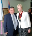 Kaspar Karampetian and Dr Eleni Theocharous MEP